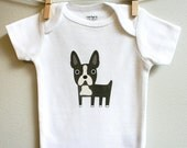 Baby clothes, boston terrier. Long or short sleeve. Your choice of size.