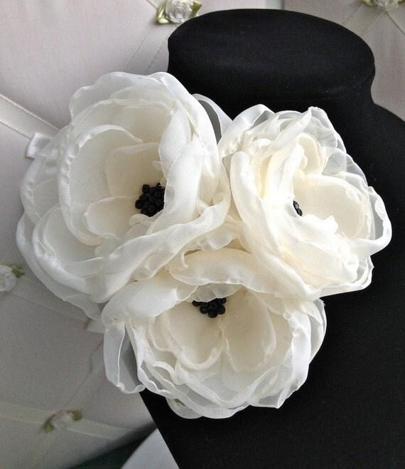 SALE White Bridal Sash
