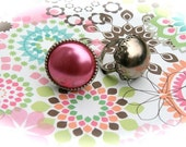 Adjustable Button Style Vintage Ring Set