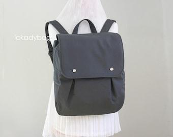 Stock SALE - Gray Rucksack / Backpack / Diaper bag / Canvas / School bag / Travel bag / Carry on / Men / Zipper Pockets - Zac