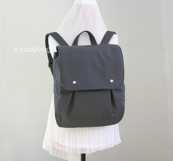 stock sale gray rucksack backpack diaper bag canvas. Black Bedroom Furniture Sets. Home Design Ideas