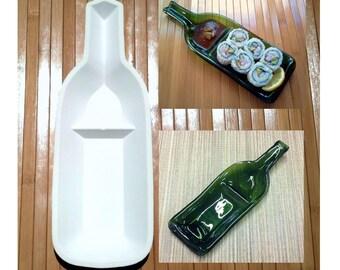 Snack-n-dip / Sushi wine bottle slumping mold
