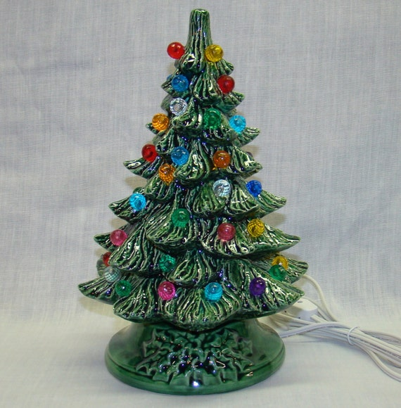 Handmade Ceramic Christmas Tree 10 Inch By Crookedoakceramics