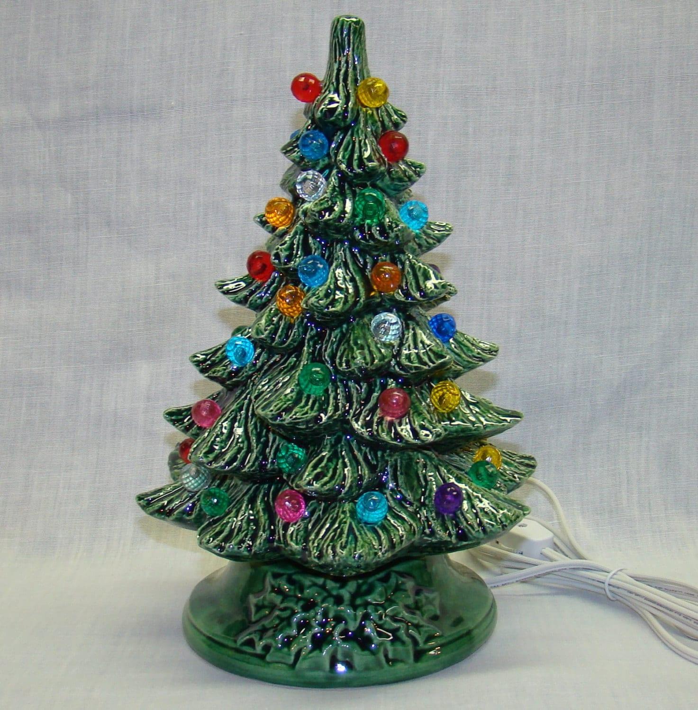 Handmade Ceramic Christmas Tree 10 Inch By Crookedoakceramics