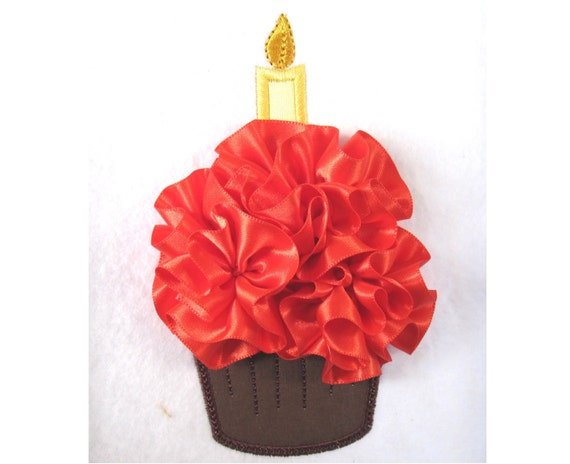 Birthday Cake with ruffles INSTANT DOWNLOAD - machine embroidery applique designs, file - 4x4 and 5x7