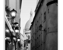 """Paris Photography - Paris photos, Paris decor, Sacre Coeur, Paris architecture - """"Montmartre"""" - Fine Art Photograph B&W or Sepia"""