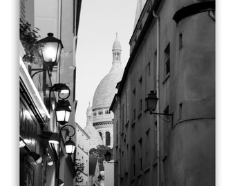 "Paris Photography - Paris photos, Paris decor, Sacre Coeur, Black and white Paris architecture - ""Montmartre"" - Fine Art Photograph"
