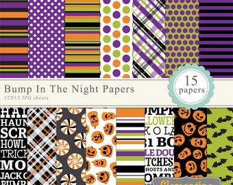 Halloween digital paper 12x12,  digital scrapbooking paper, royalty free- Instant Download