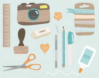 Scrapbook clip art, scrapbook clipart, camera clip art images for commercial use- Instant Download