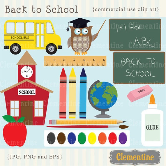 Back To School Clip Art, School Clip Art Images, Royalty