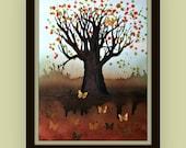 Tree of Life - Original Tree Painting by Alma Yamazaki Watercolor - Ink 24 x 18