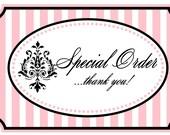 Special Order for Elizabeth