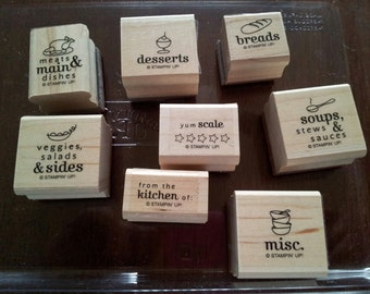 SALE    New  Stampin Up Suite of Menu Stamps