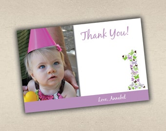 Butterflies Thank You Card with Photo