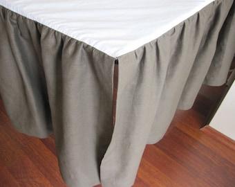 Ruffle Crib bed skirt - Dust ruffle Bedskirt base coverlet, CRIB Bedding, baby boy girl bedding - split opening dust ruffle