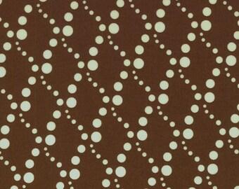 SALE 1 Yard Doodle Zoo Diamond Dots Brown by RJR Fabrics