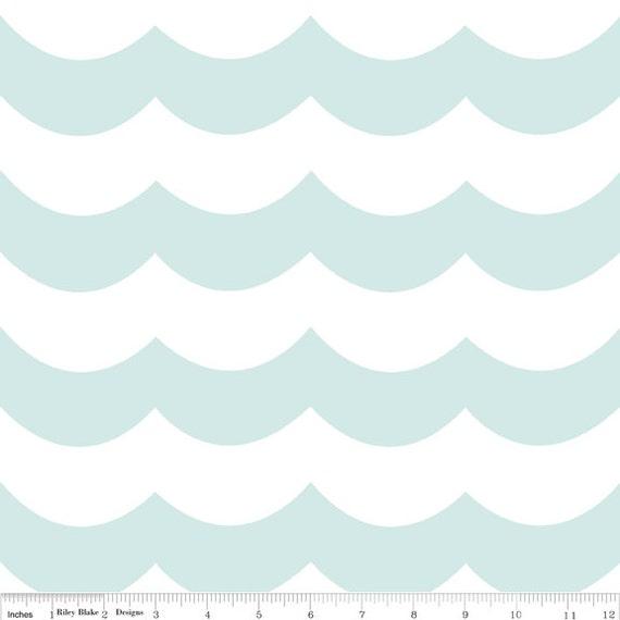 Custom listing for  micoucou - 3 yards Aqua Waves