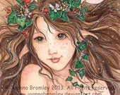 CHeeky Ivy - flower fairy fantasy illustration, 5x7 archival print