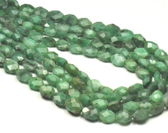 """9mm to 12mm  14"""" line EMERALD nugget beads em005"""