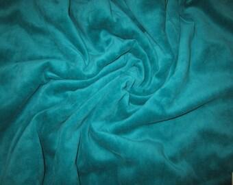 80/20 CVc Cotton Velour  -Emerald Teal CVC Velour