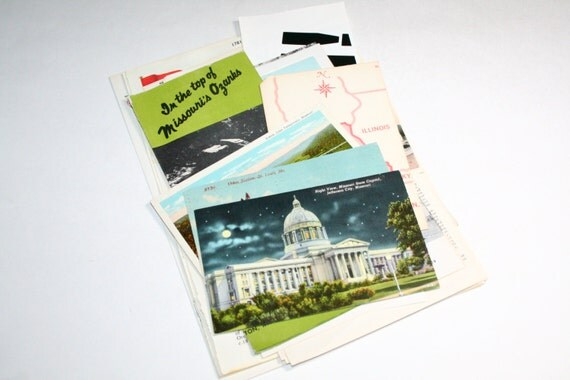 Missouri - United States Vintage Travel Collage Kit
