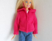 Fleece Jacket fits Barbie Fashion Doll