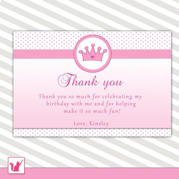 girl baby shower thank you notes princess thank you note pink crown