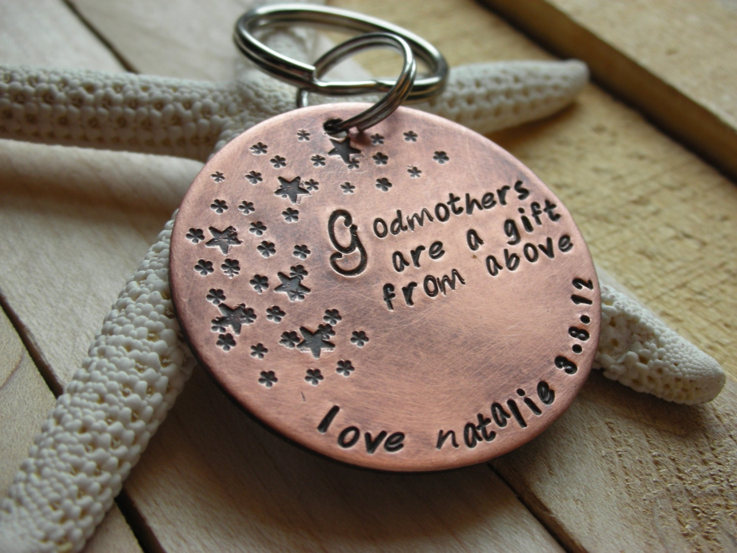 Godparent Keychain Gift for Godparents-Gift for