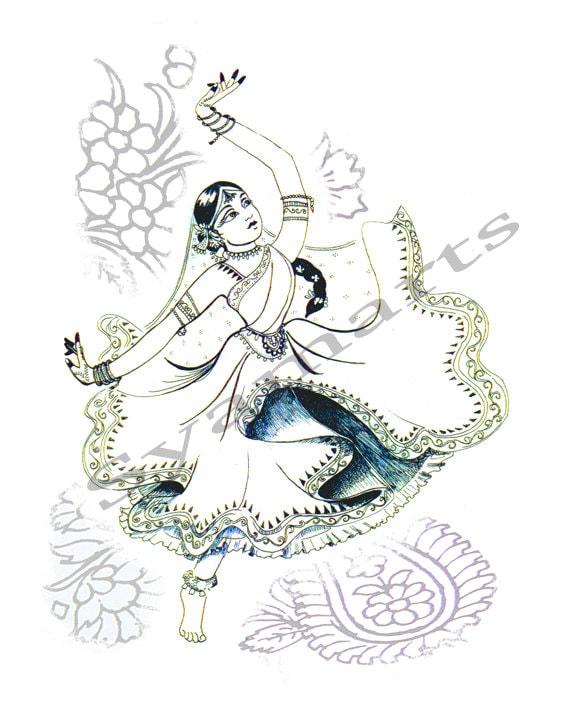 Peacock Dancing Sketch ... , Indian dancing, ...