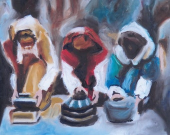 Three Wise Men, Fine Art PRINT, Original Oil Painting, Christian Art, Biblical Art, Christmas Art, Religious Art, Oil Painting,
