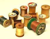 Vintage Wooden Thread Spools