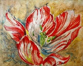 Floral Print, Tulip Print, Fine Art Print, Giclee Print, Flower Art, Red, Wall Art, Art Print, Tulip Art, Flower Print, Modern Art, Flower
