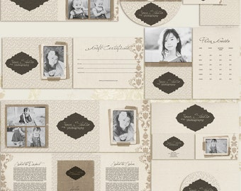Linen Premade Photography Marketing Set Templates