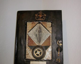 "Steampunk Antique Altered Book in Steampunk  Nautical Design "" Rime of the Ancient Mariner"""