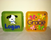 Personalized Sandwich Container with Lock Top