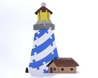 Lighthouse Puzzle and Room Decor