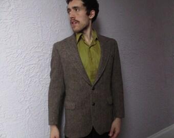 Vintage  Men's Harris Tweed Herringbone Jacket 42 medium