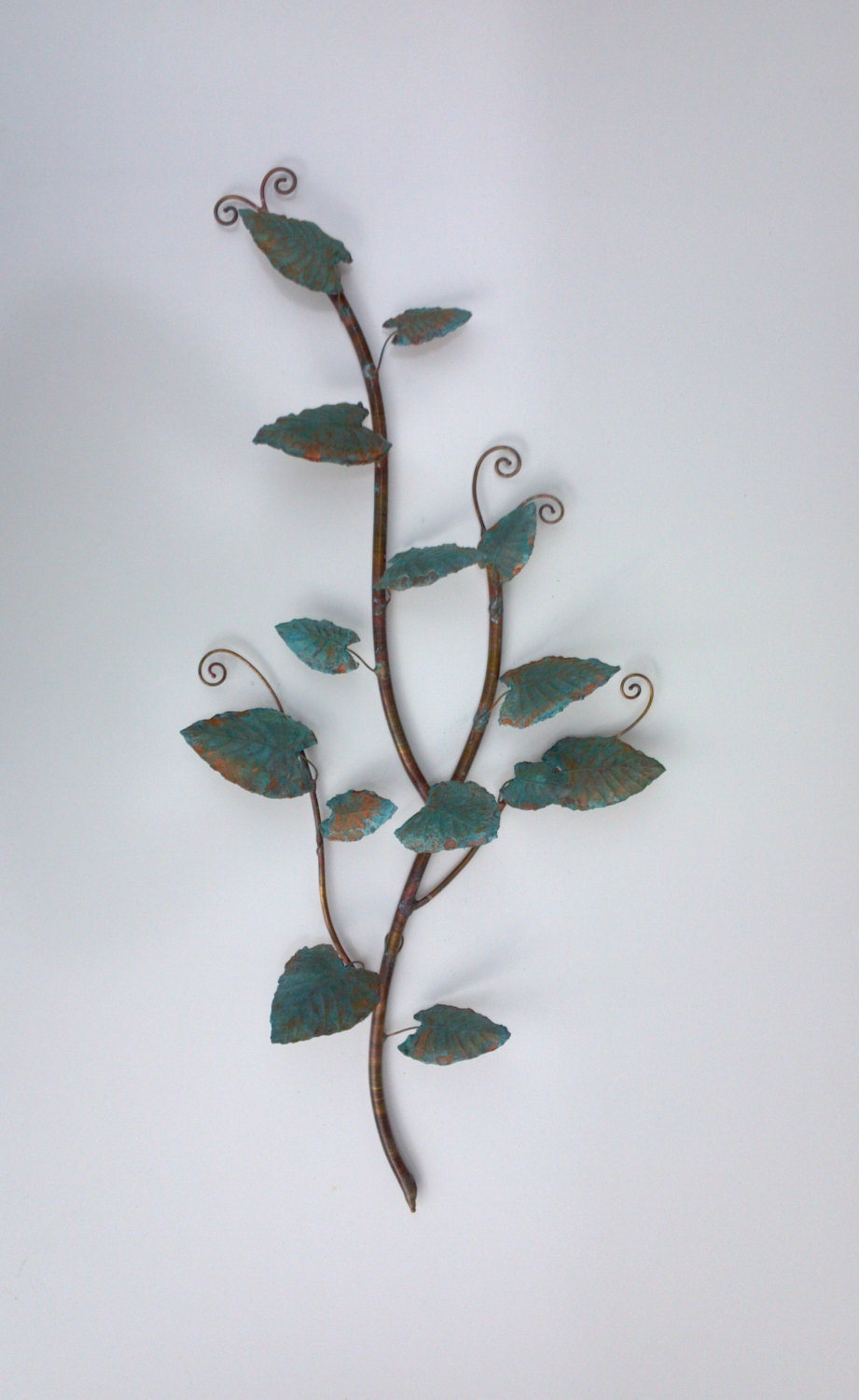 Copper Jungle Vine Branch Wall Hanging by SouthPawMetalWorks