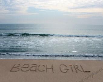 BEACH GIRL Sand Writing