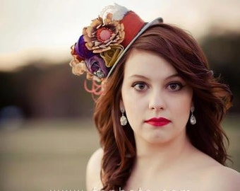 Jewel of the Nile  Mini Hat Fascinator, Indie, bridesmaids, photo prop, special occasion - Derby hat
