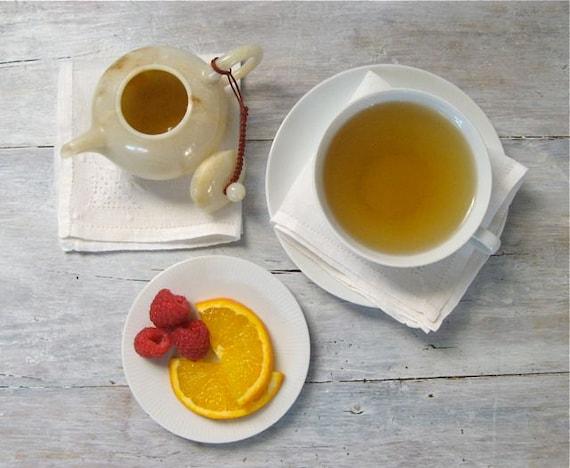 Raspberry Orange Rhapsody Green Tea • 3.5 oz. Kraft Bag • Loose Leaf Blend w/ Fruit