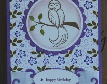 Beautiful Owl Birthday Card