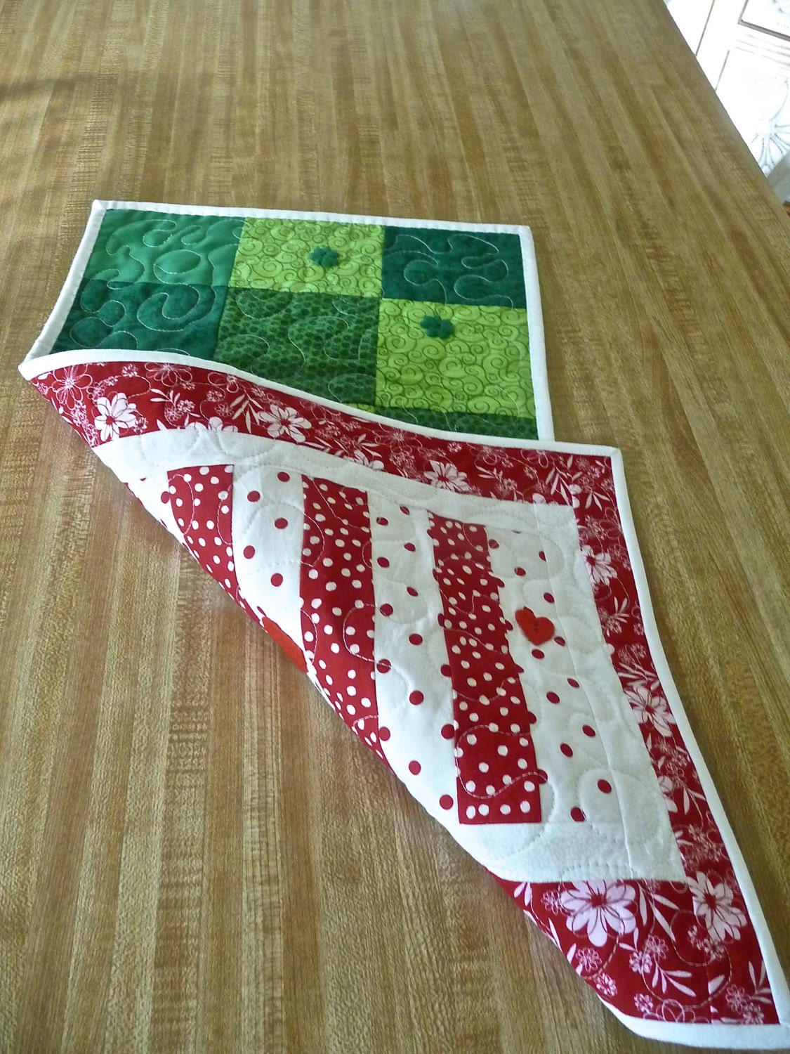 Valentine S Day And St Patrick S Day Table Runner In