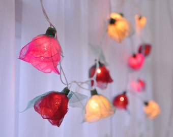 Classic firt love Rose string lights for Patio,Wedding,Party and Decoration (35 bulbs), fairy lights