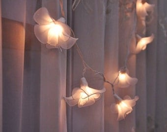 20 Bulbs White love flower string lights for Patio,Wedding,Party and Decoration