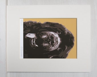 Brown Newfoundland ART PRINT