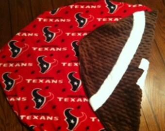 Houston Texans Football Baby Blanket - Minky Fleece