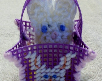 Purple Easter Bunny Peek A Boo Basket