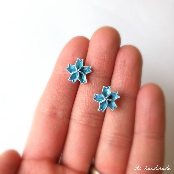 MINI Shades of Blue Origami Kusudama Cherry Blossom Post - photo#23