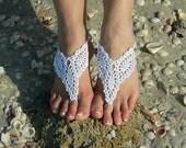 Elegant Barefoot Sandal, Barefoot Bride, Beach Footwear, Vintage Bride, Womens Thong Sandal, Wedding Sandal, Yoga Sandals